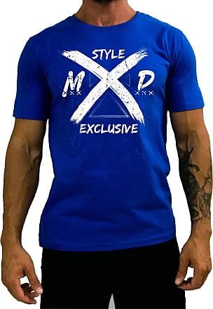 MXD Conceito Camiseta Tradicional Masculina MXD Conceito Style Exclusive Estilo Exclusivo (Azul, EG)