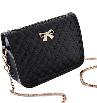 Zeagoo Womens PU Leather Handbag Crossbody Satchel Shoulder Messenger Bag Bow Black