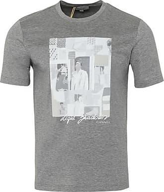 Canali Crew T-Shirt T-Shirt grau - EU 54 / XXL UK