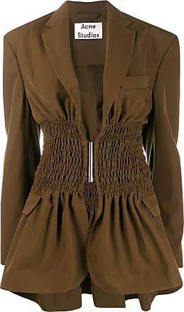 Acne Studios ruched waist blazer - Brown