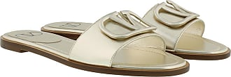 Valentino Loafers & Slippers - V Logo Flat Slippers Platino - gold - Loafers & Slippers for ladies