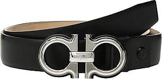 Salvatore Ferragamo Adjustable Belt - 67A005 (Black 1) Mens Belts