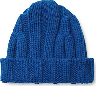 CONNOLLY Ribbed Merino Wool And Cashmere-blend Beanie - Blue