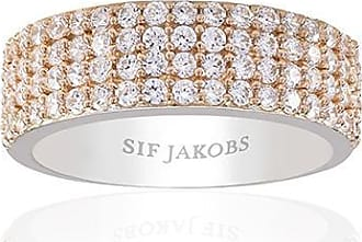 Sif Jakobs Jewellery Ring Corte Quattro - 18k rose gold plated with white zirconia