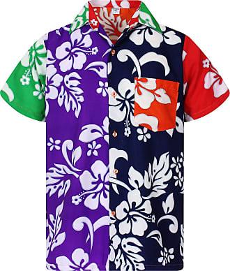 V.H.O. Funky Hawaiian Shirt, Shortsleeve, Mondy Hibiscus, Multicoloured, 3XL