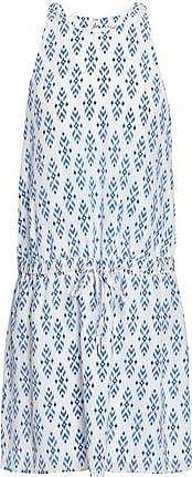 Joie Joie Woman Printed Silk Crepe De Chine Mini Dress Blue Size M
