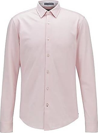 BOSS Slim-fit shirt in washed cotton piqué
