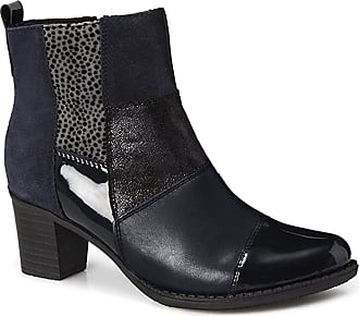 Rieker Womens Leather Blue Combi Mid Heel Ankle Boot UK 8 - EU 41 - US 10