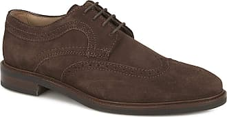 Jones Bootmaker Mens Suede Derby Brogue Shoes Lace Up Brown Suede UK 10