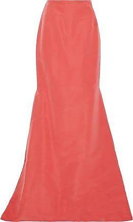 ad5b44d165 Carolina Herrera Carolina Herrera Woman Fluted Silk-faille Maxi Skirt Coral  Size 10