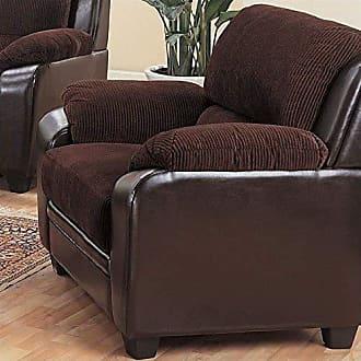 Coaster Fine Furniture Monika Stationary Chair Chocolate