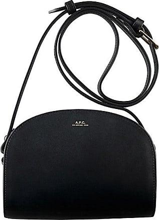 A.P.C. Mini Black Demi Lune Bag - black - Black/Black