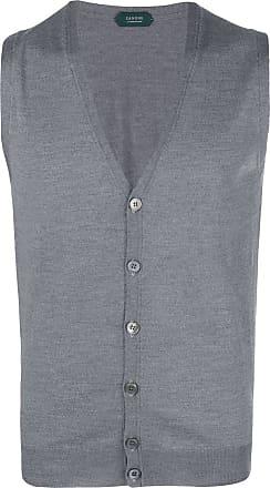 Zanone sleeveless cardigan - Grey