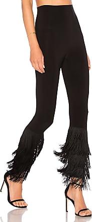 Norma Kamali Fringe Hem Legging in Black