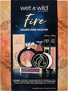 Wet n Wild Make-up Eyes Zodiac Fire Set Color Icon Eyeshadow Palette 6 g + Mega Glo Highlighting Bar 8,5 g + Mirror Compact + 3 x Color Icon Lip Glosses 3,5 ml 1