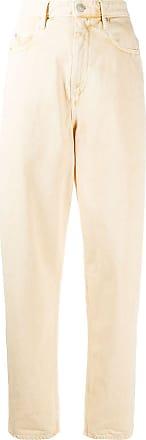 Isabel Marant Calça jeans cintura alta Corsy - Amarelo