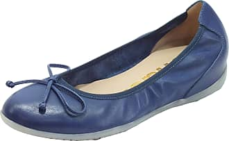 Wonders A-1101 Sauvag Baltic Ballet Flats Leather High Baltic Blue Blue Size: 8.5 UK