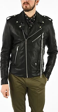 Diesel Leather SE-LEANDRO Jacket with Studs Back size Xxl
