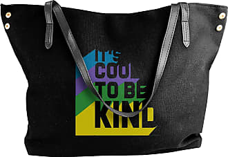 Juju Its Cool To Be Kind By Sonshine Womens Classic Shoulder Portable Big Tote Handbag Work Canvas Bags