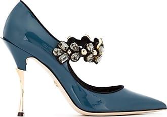 Dolce & Gabbana Sapato envernizado com aplicações - Azul