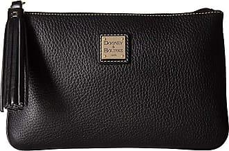 Dooney & Bourke Pebble Carrington Pouch (Black/Black Trim) Handbags