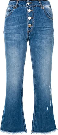 Each Other button cropped jeans - Blue