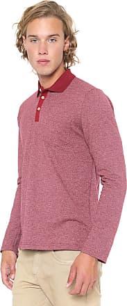 Malwee Camisa Polo Malwee Reta Bolso Vermelha
