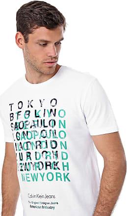Calvin Klein Jeans Camiseta Calvin Klein Jeans Lettering Branca