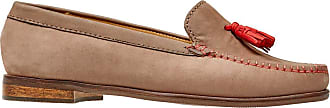 Van Dal Womens Whitford X Wide EE Fit Leather Loafers, Taupe/Coral Nubuck, Size 36 EU