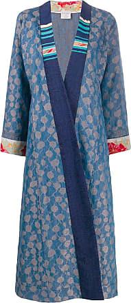 Forte_Forte embroidered oversized jacket - Blue