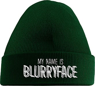 HippoWarehouse My Name is Blurryface Embroidered Beanie Hat Bottle Green