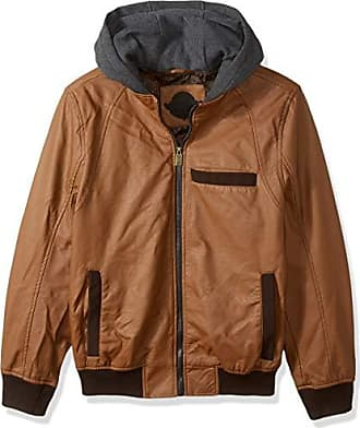 Urban Republic Mens Faux Leather Jacket, red, M
