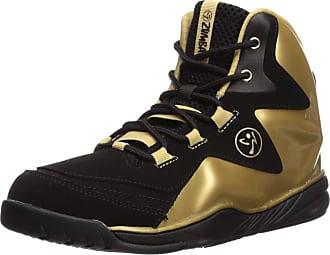 Zumba Fitness Womens Energy Boom High Top Dance Workout Shoes Fitness, Gold Metallic Black, 3 UK