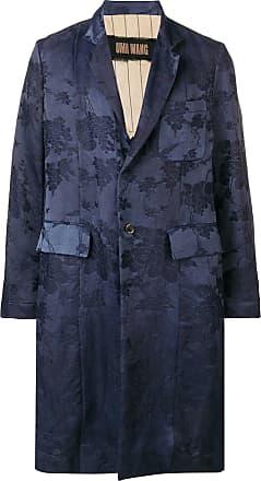 Uma Wang floral single-breasted coat - Blue