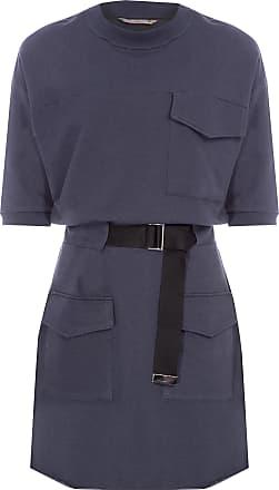 Colcci Vestido Curto Moletom Com Cinto - Cinza