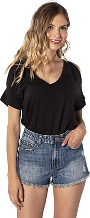 Rip Curl Moon Light Women,T-Shirt,Short Sleeve Tee,Short Sleeves,Round Neckline,Cut Outs,Black,XL