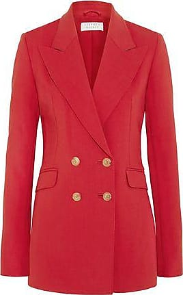 Gabriela Hearst Gabriela Hearst Woman Angela Double-breasted Wool-blend Blazer Tomato Red Size 36
