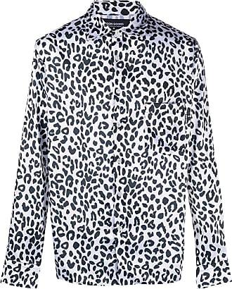 Noon Goons Camisa mangas longas com estampa de leopardo - Branco