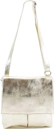 Your Dezire Ladies Genuine Italian Leather Small Cross Body Messenger Bag Women Shoulder Over Bags Handbags (Gold)