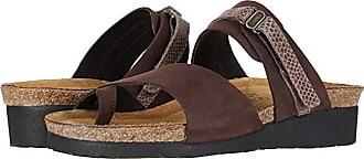 Naot Jessica (Coffee Bean Nubuck/Brown Lizard Leather) Womens Sandals