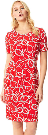 Roman Originals Women Nautical Rope Print Shift Dress - Ladies Day Everyday Casual Spring Summer Garden Party Holiday Short Sleeve Puff Print A-Line Knee Length Shift
