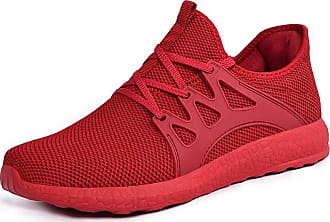 Zocavia mens womens trainers, running shoes, sports shoes, non-slip trainers. Red Size: 10 UK