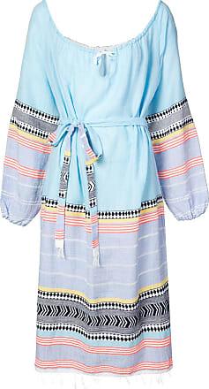 Lemlem Vestido listado com cinto - Azul