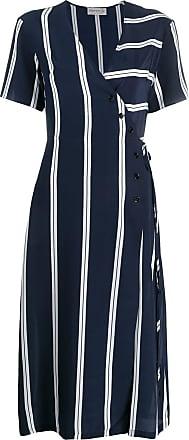 être cécile striped wrap front dress - Blue