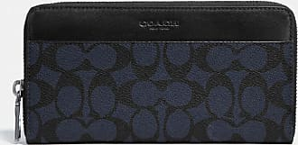 Coach Accordion Wallet In Signature Canvas in Blue