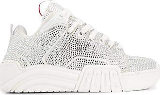 GCDS Fashion Woman FW20W01021101 White Leather Sneakers | Season Outlet