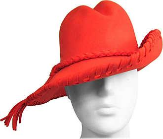 dca46abcf48 1stdibs Vintage 1970s Mr. John Classic Red Orange Whipstitch Wool Fedora Hat
