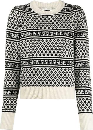 Isabel Marant Suéter decote careca de tricô com padronagem - Neutro