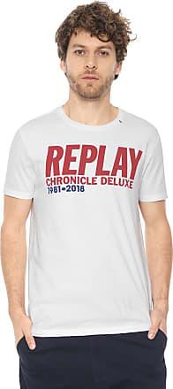 Replay Camiseta Replay Estampada Branca