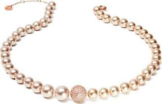 Misaki Collier ras de cou Enjoy avec perles roses